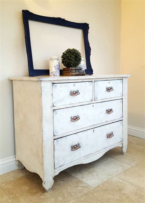 vintage hand painted chest of drawers rustic shabby chic vintage chest of drawers hand painted