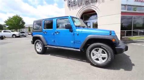 jeep wrangler unlimited sport blue 2015 jeep wrangler unlimited sport hydro blue pearl coat