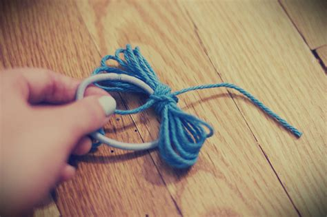 how to tie yarn into hair yarn bow hair tie chantilly