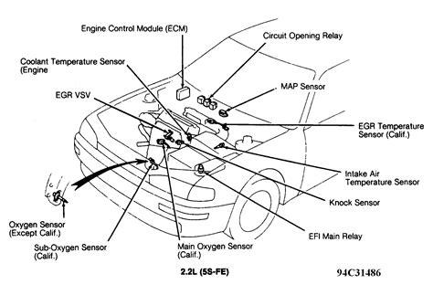 2002 Toyota Camry 4 Cylinder Engine Diagram