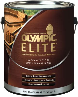olympic elite advanced stain sealant professional builder