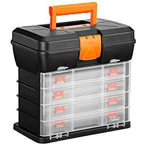 tool box with drawers uk vonhaus utility tool box organiser case with 4 drawers