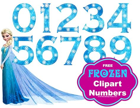 printable frozen font frozen party free frozen snowflake numbers large