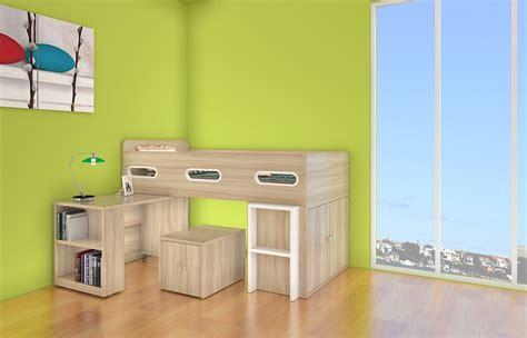 Midi Sleeper Bunk Beds by Sigma Single Midi Sleeper Bed With Desk Storage
