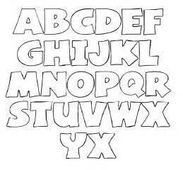 Bold letters colouring pages page 2
