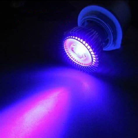 Led Uv Light Bulbs 4pcs Lot 3w Led Spotlight E27 Gu10 Mr16 Uv Ultraviolet Purple Led Sun Light Bulb L