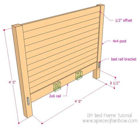 diy bed frame and wood headboard a of rainbow