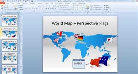Make Awesome Global Presentations With Global Powerpoint Template Toolkit Flags Of The World Powerpoint