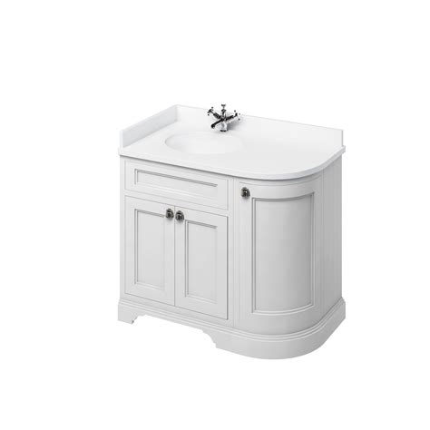 Corner Vanity Basin by Burlington Freestanding 100 Curved Corner Vanity Unit Choice Of Colour Basin Fc2w Fc2s Fc2o