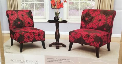 accent table and chairs set avenue six 3 piece chair and accent table set costco