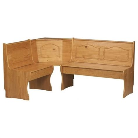 corner bench table kitchen dining nook corner bench in natural 90366n2 01 kd u