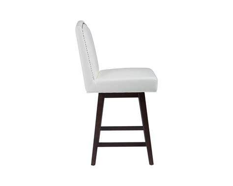 Ivory Leather Counter Stools by Maison Swivel Counter Stool Ivory Leather Metro Element
