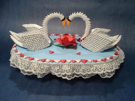 3d Origami Wedding - 3 d origami wedding swans by pandanpandan on deviantart
