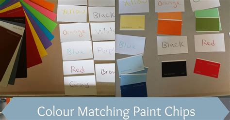 munchkin and bean colour matching paint chips