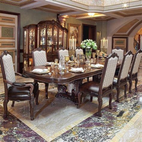 aico victoria palace rectangular dining room set  light