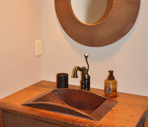drop in copper bathroom sink large drop in trough sink copper sinks