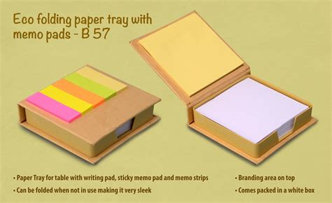 How To Fold A Paper Tray - b57 eco folding paper tray with memo pads