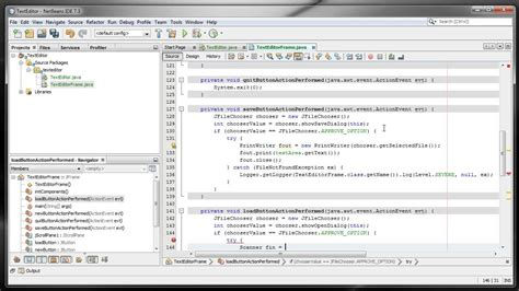 design text editor in java java text editor 3 creating gui applications in netbeans