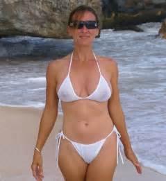 milf babe in a see through bikini
