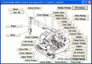 Crane Parts Hitachi Excavator Medium Size Crane Spare Parts Catalog