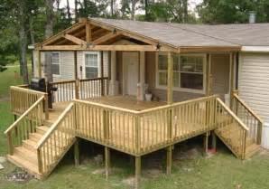 mobile home deck plans decks