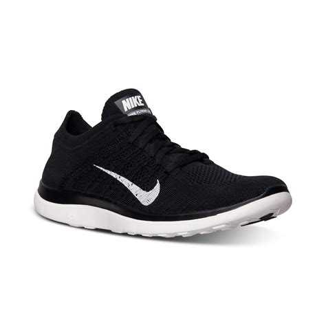 mens black sneakers nike mens free flyknit 40 running sneakers from finish