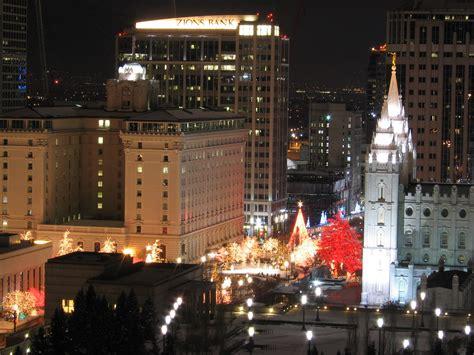 file main street plaza in salt lake city at christmas time