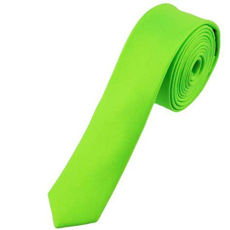 plain neon green tie from ties planet uk