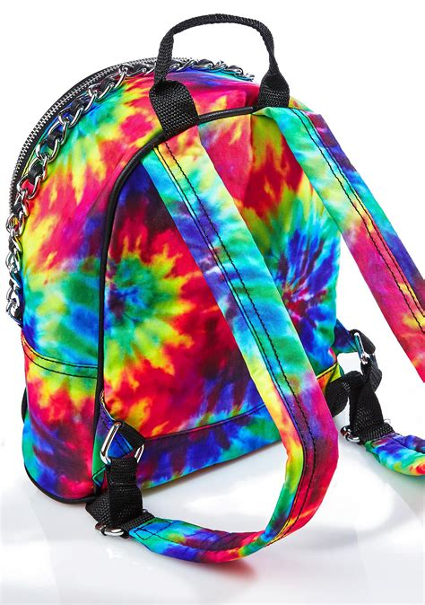 Chained Backpack jaded chained tie dye mini backpack dolls kill