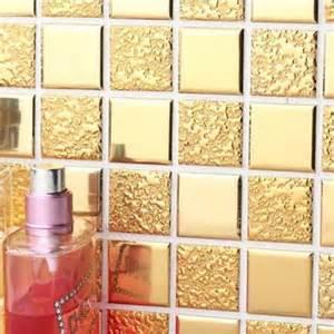 gold porcelain tiles bathroom wall backsplash glazed new set 12 tile art wall decals stickers diy kitchen