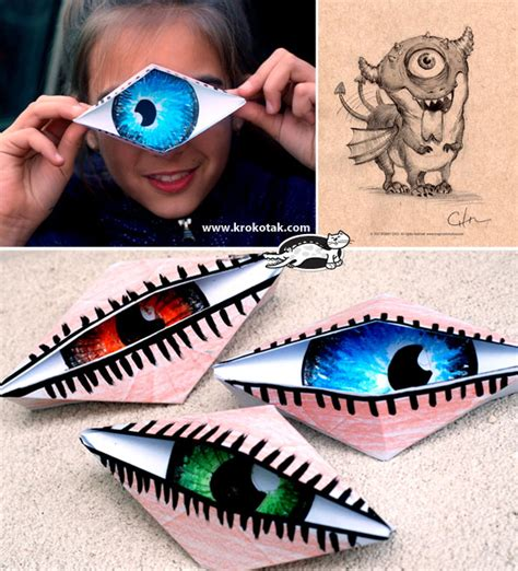 Blinking Eye Origami - krokotak do i look like a cyclope blinking origami eye