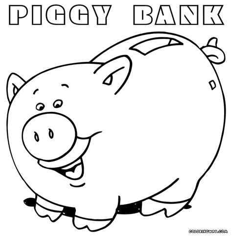 piggy bank coloring pages coloring pages to download and