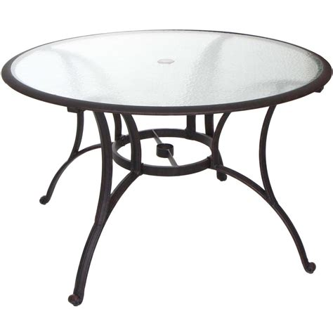 Glass Patio Table Glass Top Patio Dining Table Fastfurnishings 48 Quot Glass Top Outdoor Patio Dining Glass Top
