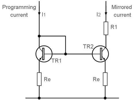 transistor lifier current transistor current mirror circuit electronics notes