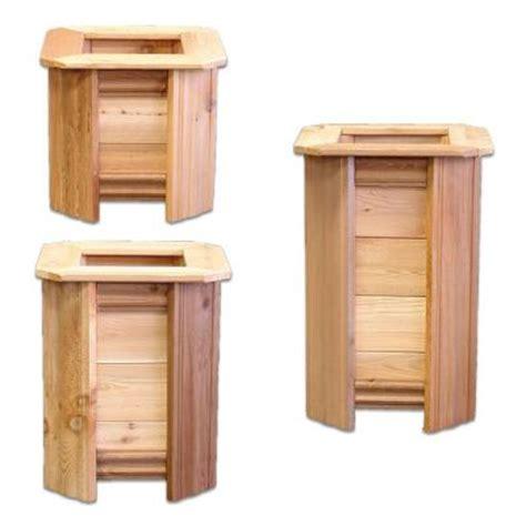 Cedar Planter Box Home Depot by Design Craft Millworks Square Patio Trio Cedar