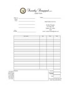 5 best images of free printable order forms free blank