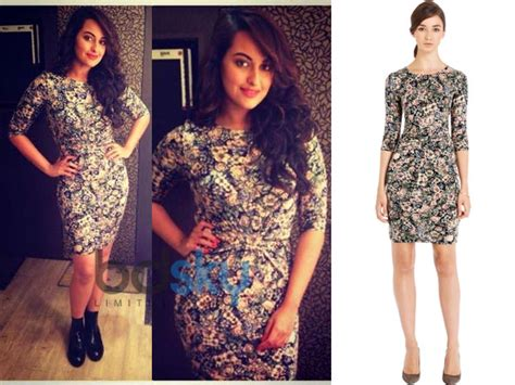 Allover Floral Prints Flatter Lifestyle Magazine 2 by Sonakshi Sinha In Warehouse Tapestry Dress Boldsky
