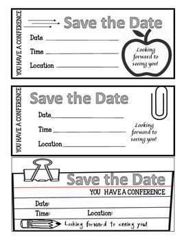 reminder templates for teachers parent conference reminder freebie editable