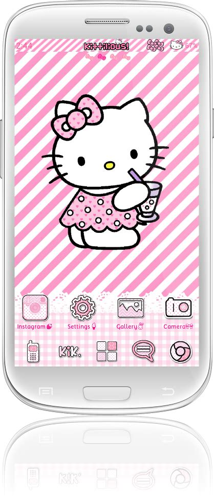 go sms themes hello kitty black pretty droid themes kittilicious themes for android a