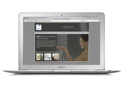 april bath and shower website april website design creative marketing design