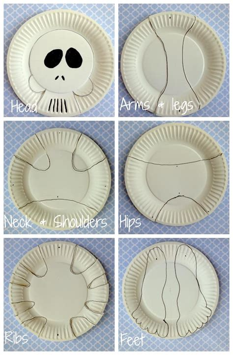 How To Make Skeleton With Paper - paper plate skeleton kidspot