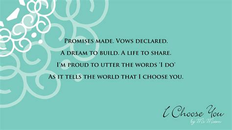 Wedding My Kinds Your by I Choose You A Wedding Poem