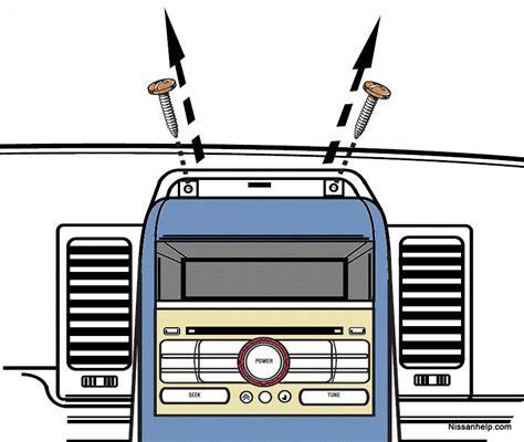 transmission control 1997 nissan sentra navigation system 2007 2011 nissan sentra radio removal procedure nissanhelp com