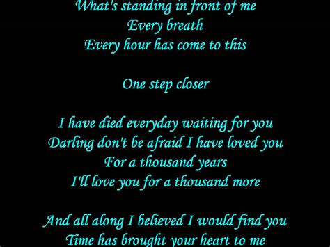 years lyrics perri a thousand years lyrics