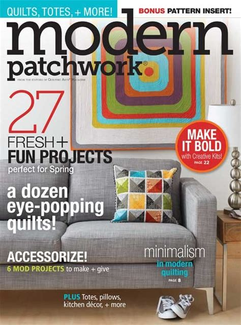 Modern Patchwork Magazine - modern patchwork 2015 my mid century modern house