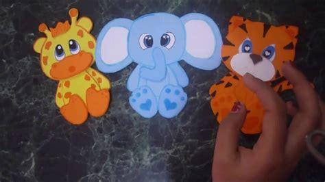 moldes de animales de la selva en goma eva molde animales de la selva en goma eva