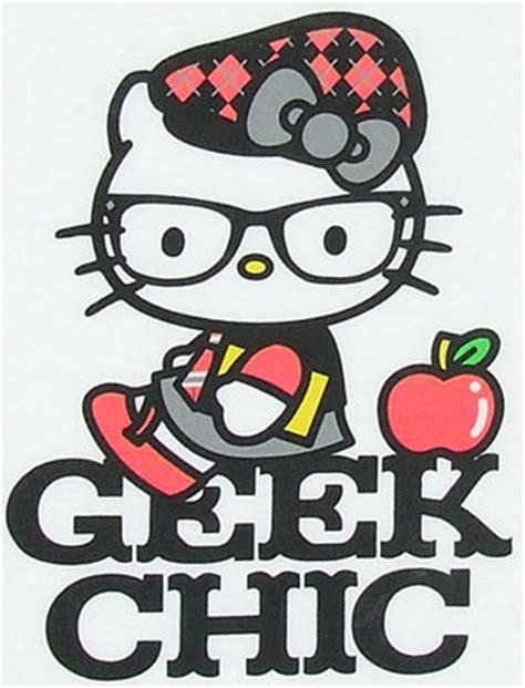 imagenes de hello kitty nerd kawaii blush get geeky with hello kitty