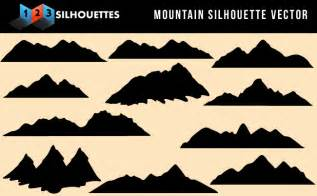 Beautiful mountain vector silhouette nature gallery downloadvector