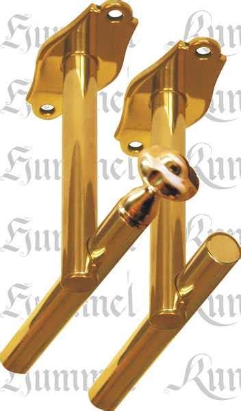 gardinenstange mit nageln zweil 228 ufige vorhangstange gardinenstange in messing