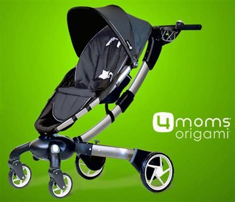 Origami Folding Stroller - charge your phone with your baby stroller the gadgeteer